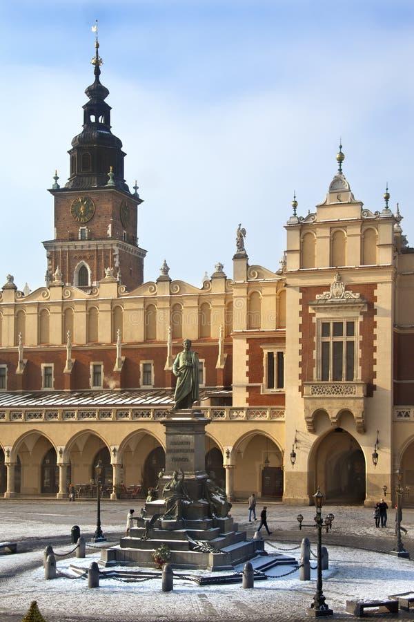 Krakau - Tuch Hall - Polen stockbilder