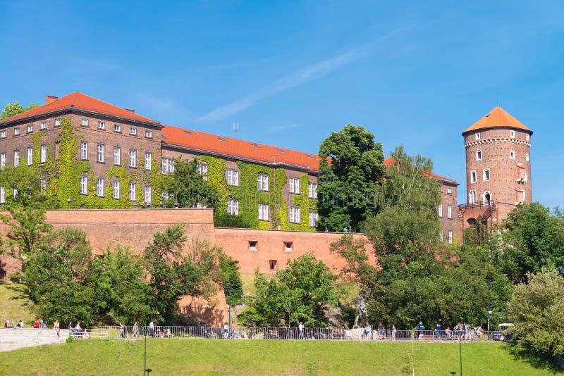 Krakau- - Wawel-Schloss am Tag lizenzfreie stockfotos