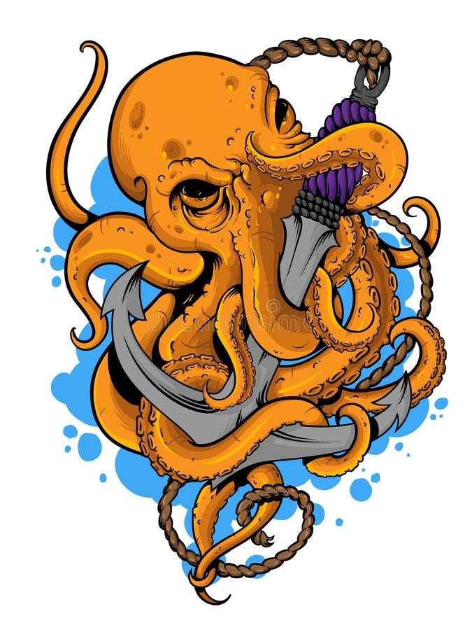 Kraken royalty-vrije illustratie