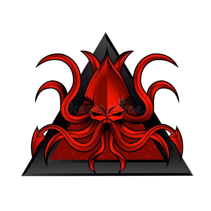 Kraken logo illustration stock illustration