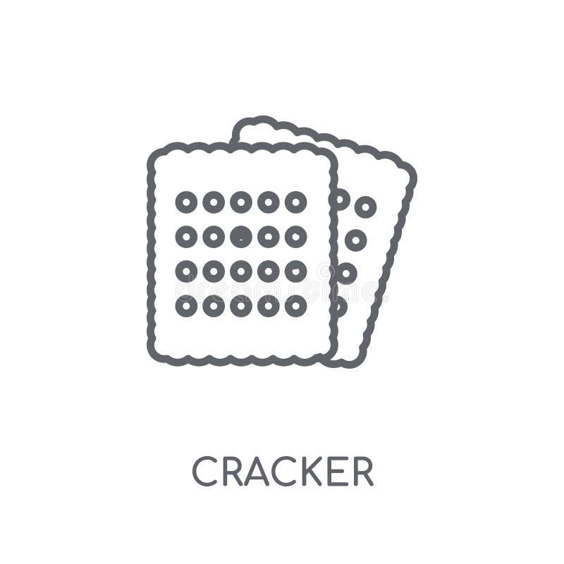 Krakers liniowa ikona Nowożytny konturu krakersu logo pojęcie na whit royalty ilustracja