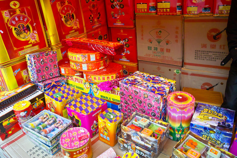 krakersa chiński ogień obrazy royalty free