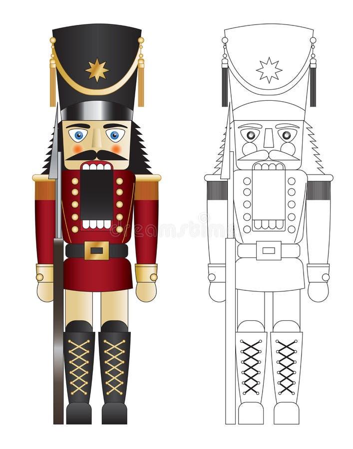 krakersa dokrętki czerwony solider zabawki wektor royalty ilustracja