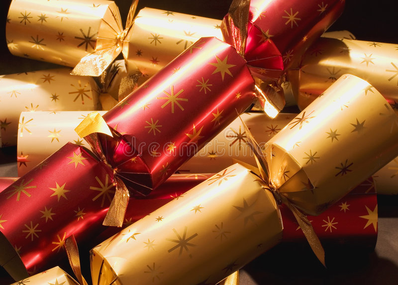 krakersy świąteczne obrazy stock
