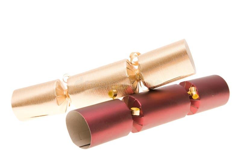 krakersy świąteczne zdjęcie royalty free