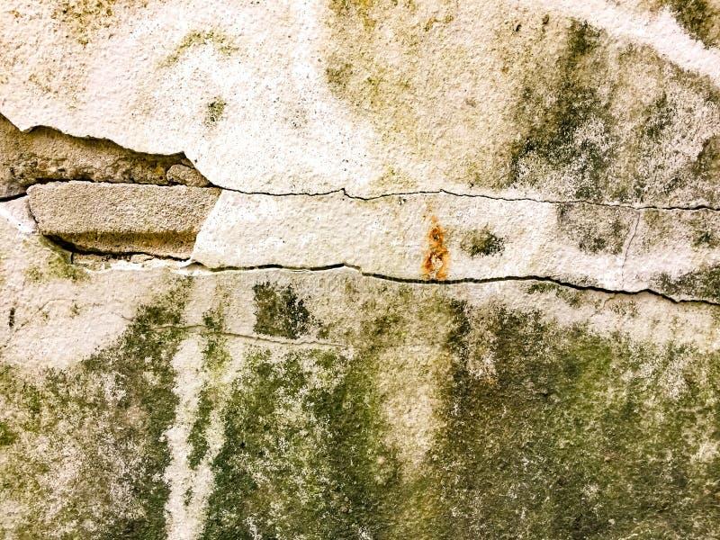 Krakingowa betonowa ściana zakrywająca, rocznika wizerunku tło zdjęcie stock