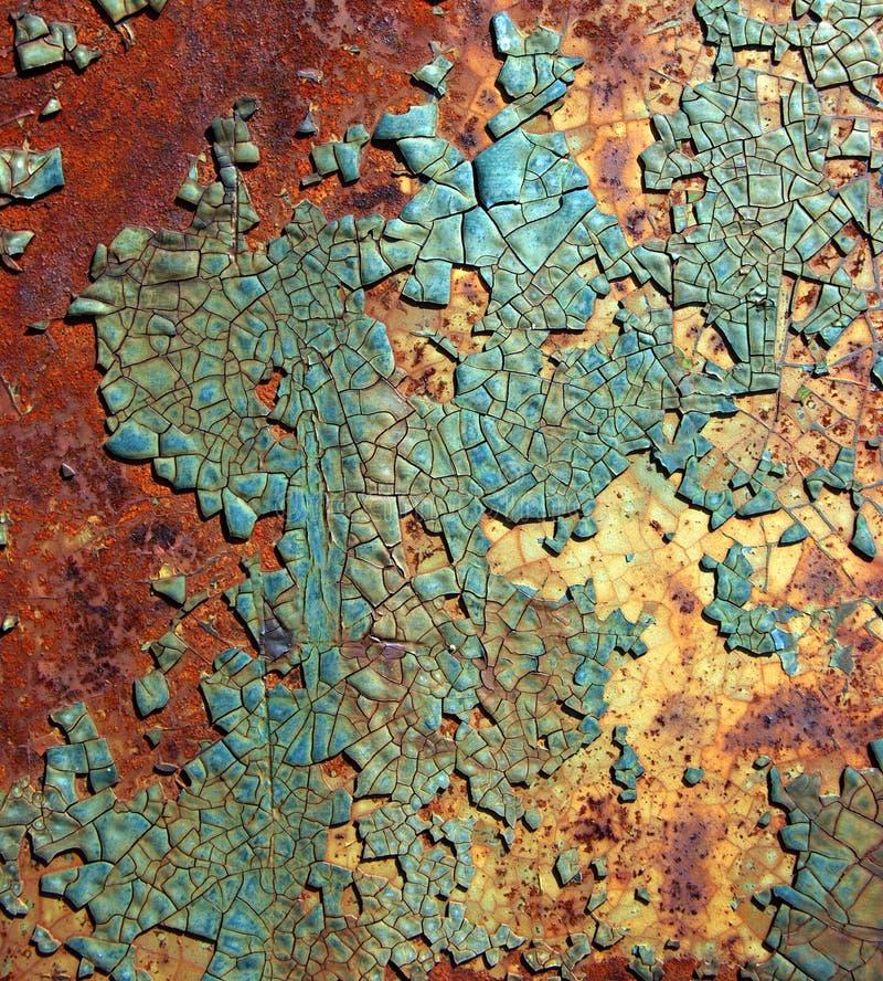 krakingowa farbę. zdjęcia stock