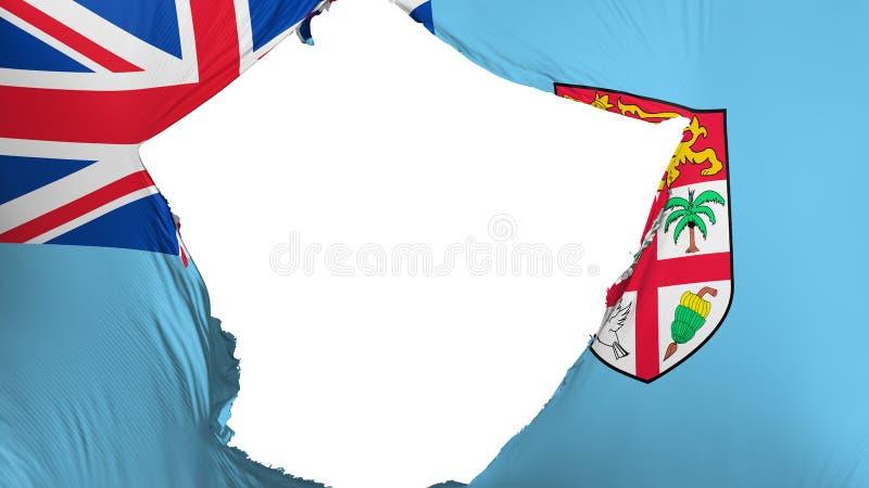 Krakingowa Fiji flaga royalty ilustracja