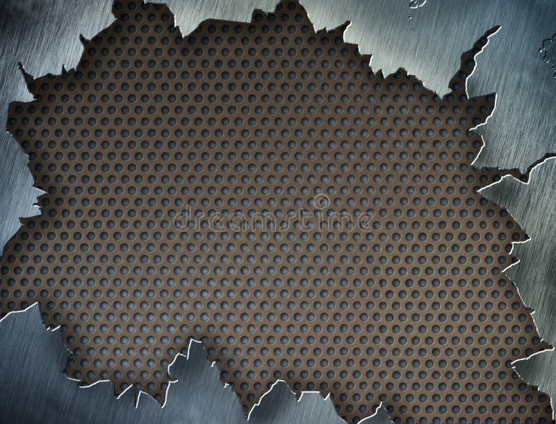 krakingowa ramowa metalu szablonu tekstura royalty ilustracja