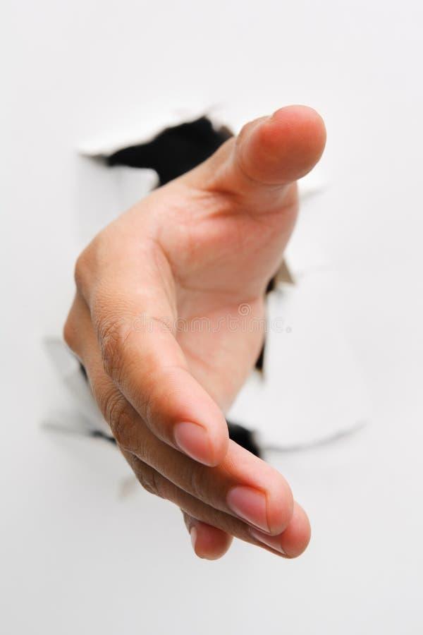 krakingowa uścisk dłoni ofiary ściana zdjęcia royalty free
