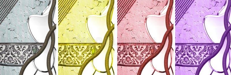 Krakingowi Textured abstrakty obrazy stock
