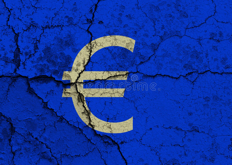 Krakingowy Euro symbol ilustracja wektor