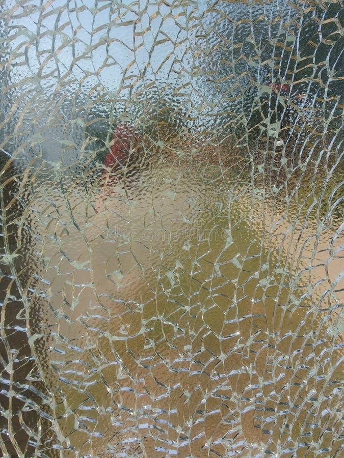 Krakingowy Hartowny szkło, Łamający Zbawczy szkło, tło, tekstura obrazy royalty free