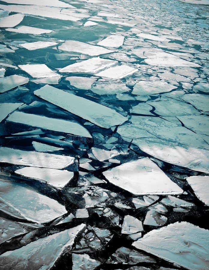 krakingowy lód zdjęcie royalty free