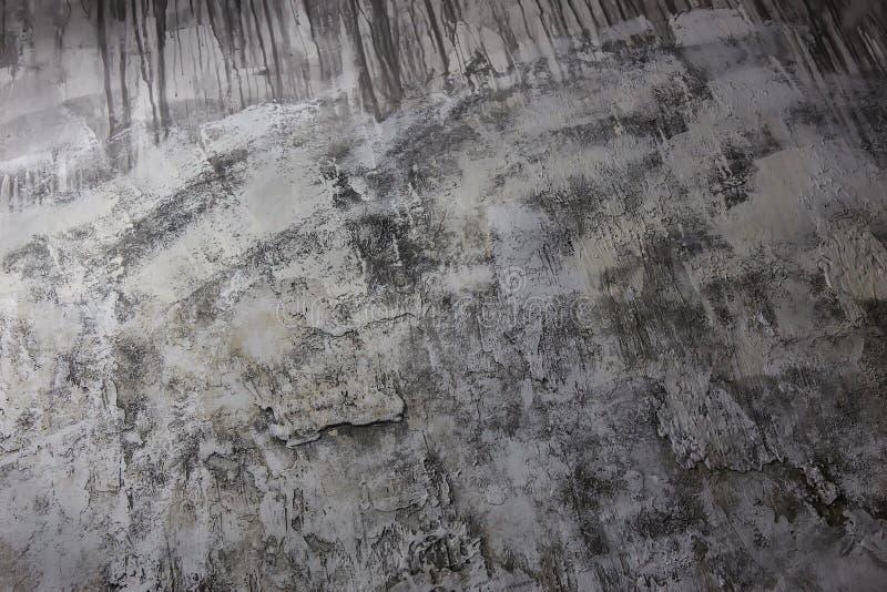 Krakingowy prostacki tynk na starej ścianie Zakończenie obrazy royalty free