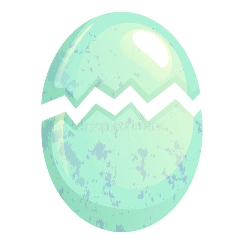 Krakingowy ptasi jajko ilustracja wektor