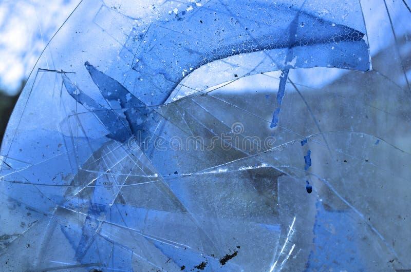 Krakingowy szkło obraz royalty free