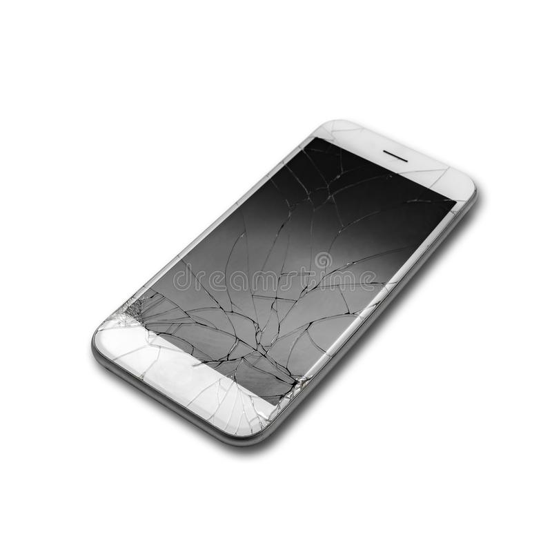 Krakingowy telefonu ekran zdjęcia stock