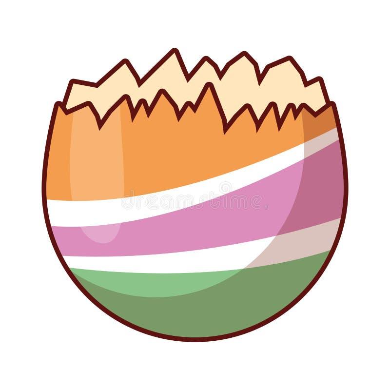 Krakingowy Wielkanocnego jajka kolorowy odosobniony ilustracji