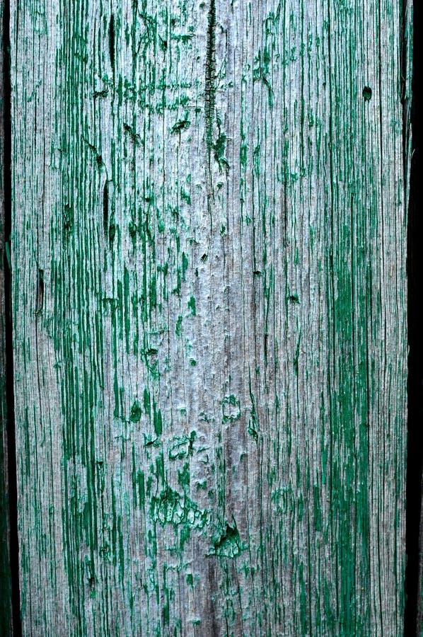 Krakingowy wietrzejący szmaragdowej zieleni podławy szyk malował drewnianej deski teksturę obrazy stock