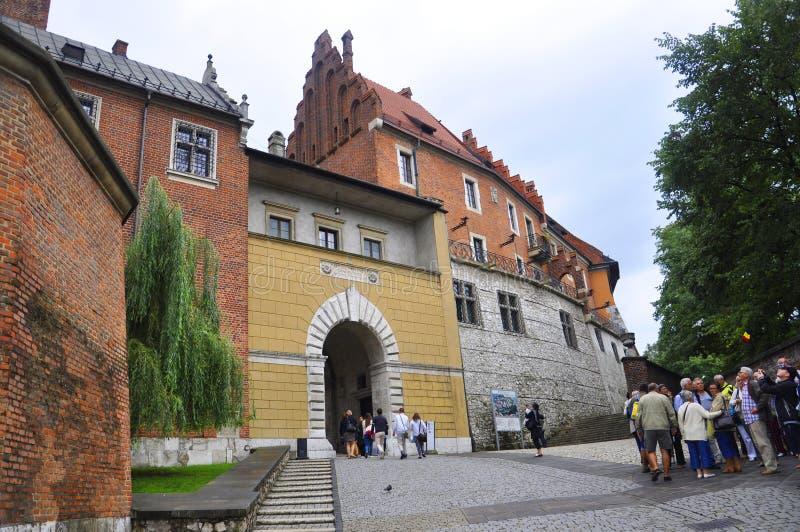 Krakow August 19, 2014:Wawel Royal Palace from Krakow Poland royalty free stock image