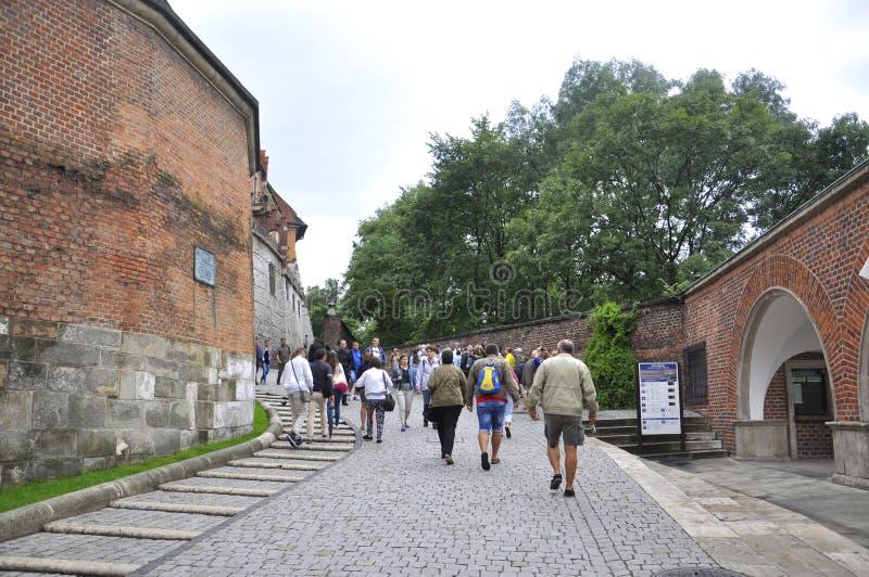 Krakow August 19,2014:Wawel Royal Palace from Krakow Poland stock photos