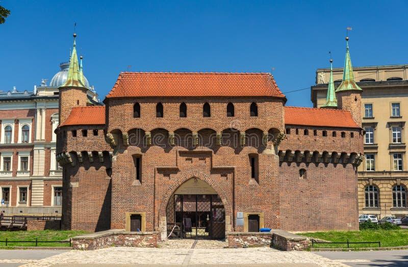 Krakow barbican - Poland. Barbican in Krakow, a Poland city royalty free stock photography