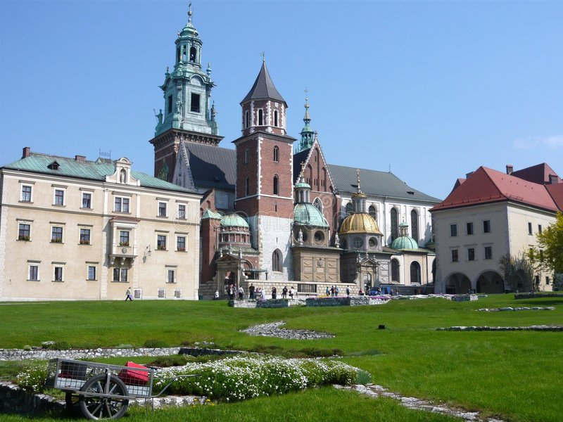 Krakow_Castle imagens de stock