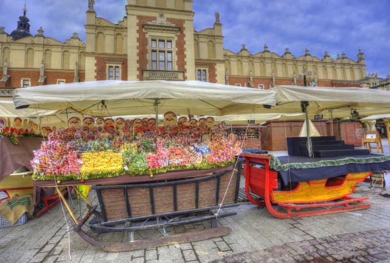 Krakow Christmas Market 2017 stock photography