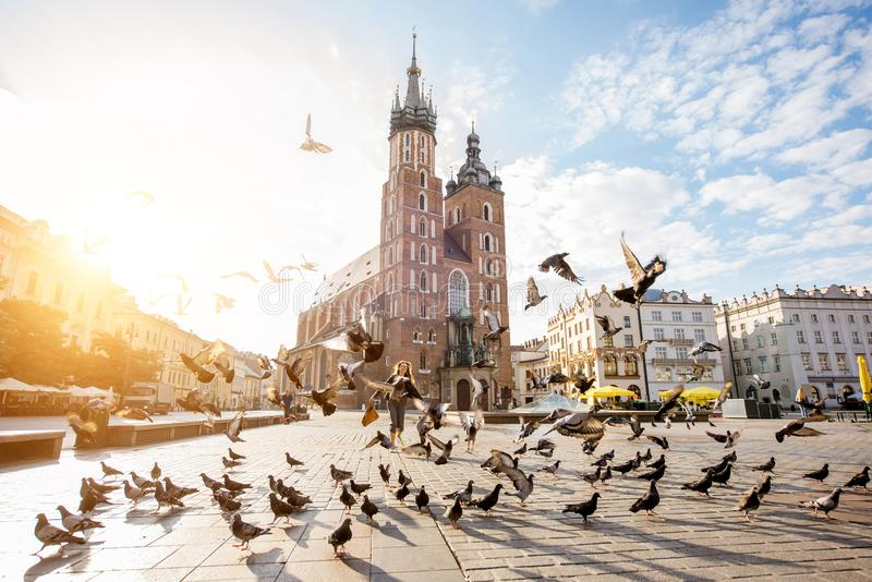 Download Krakow city in Poland stock image. Image of morning, destination - 99607471