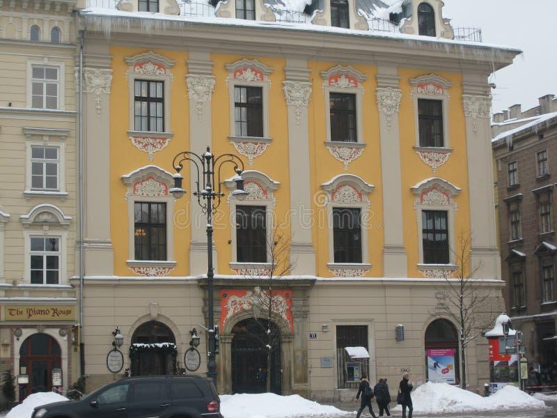Krakow de construção decorativo imagem de stock
