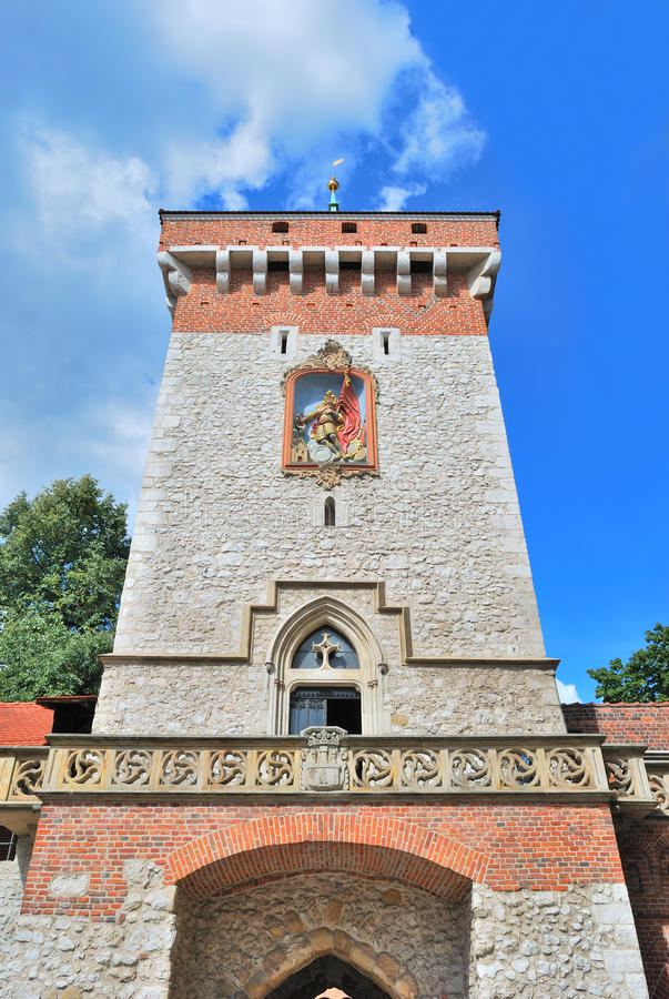 Download Krakow.  Florianska tower stock image. Image of bright - 26390141