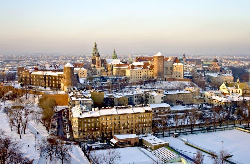 Krakow, fortaleza de Wawel fotos de stock