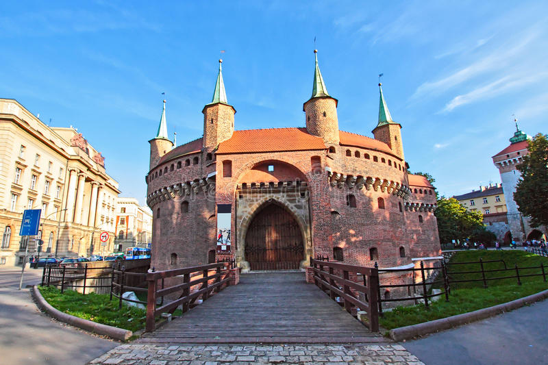 krakow gammal town arkivbilder
