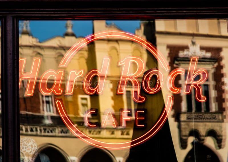 Krakow hard rock kawiarni logo zdjęcie royalty free