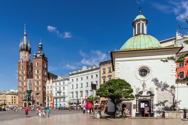 krakow huvudfyrkant arkivbild