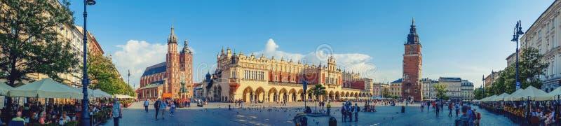 krakow huvudfyrkant royaltyfri foto