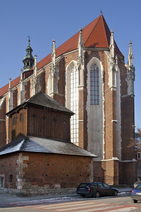Krakow - igreja de St Catherine - Poland imagens de stock royalty free
