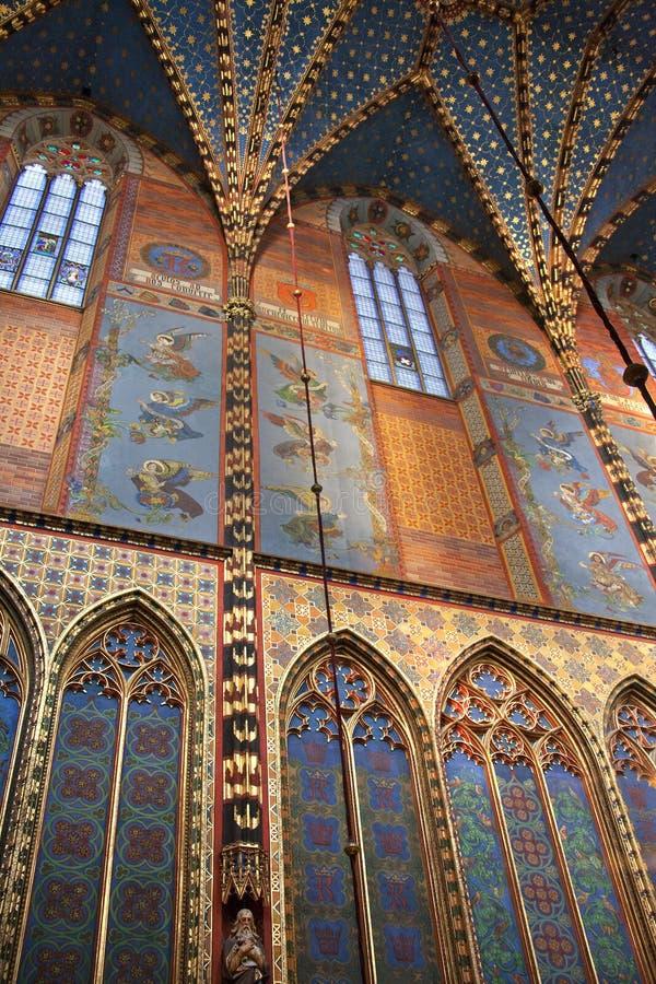 Krakow - igreja de St Mary - Poland imagem de stock royalty free