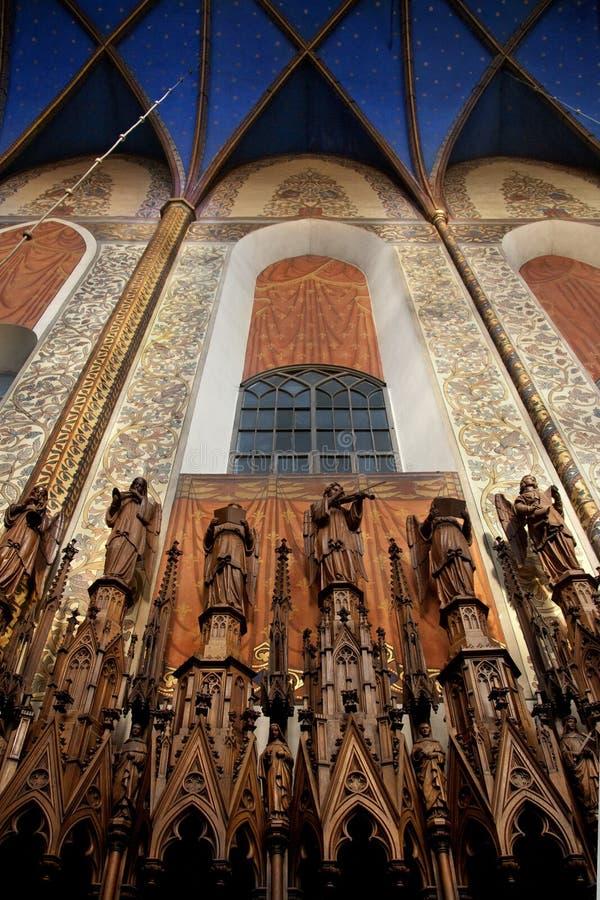 Krakow - igreja dominiquense - Poland fotos de stock