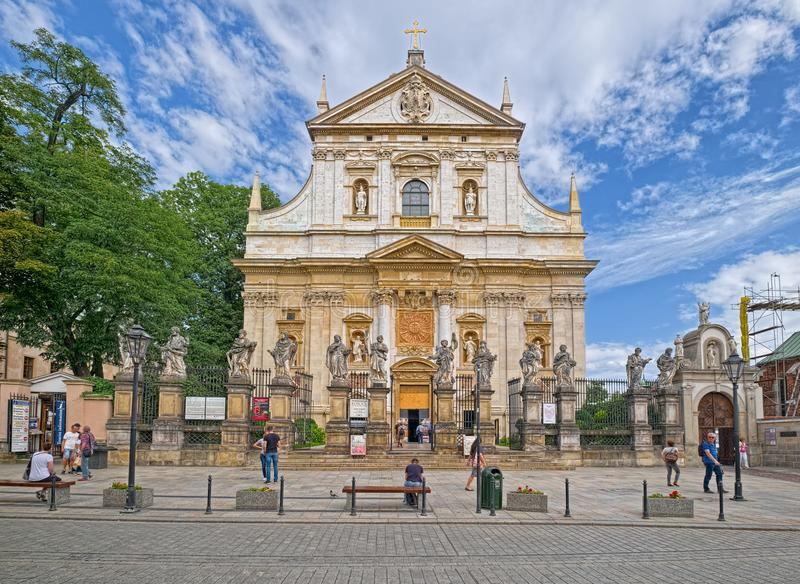 krakow kościelni święty Paul Peter Poland obrazy stock