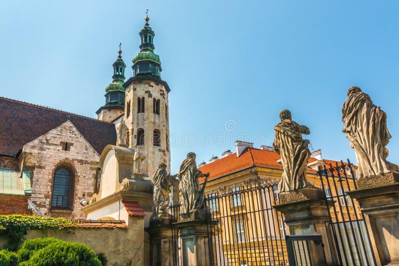Krakow (Krakowskiego) - St Andrew s kościół zdjęcia royalty free