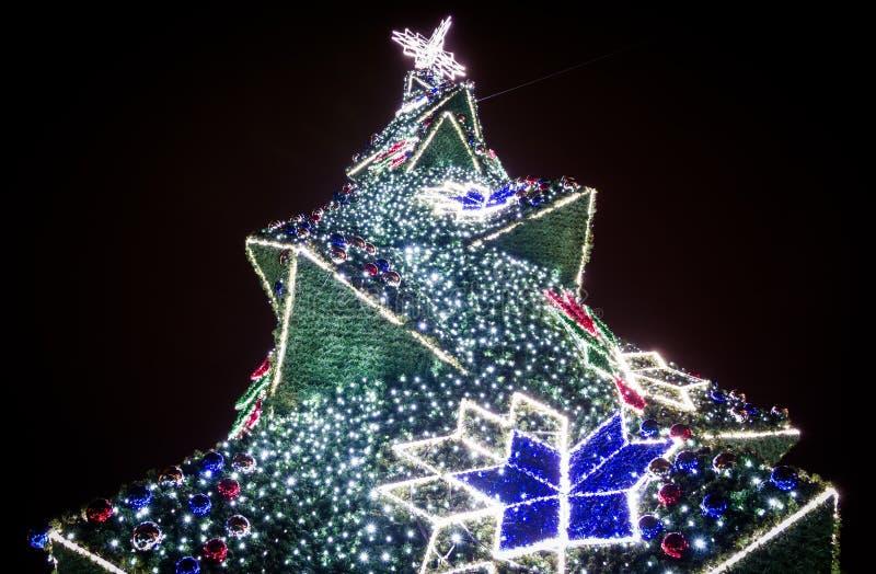 Krakow Main Market Christmas Tree, Poland stock photography