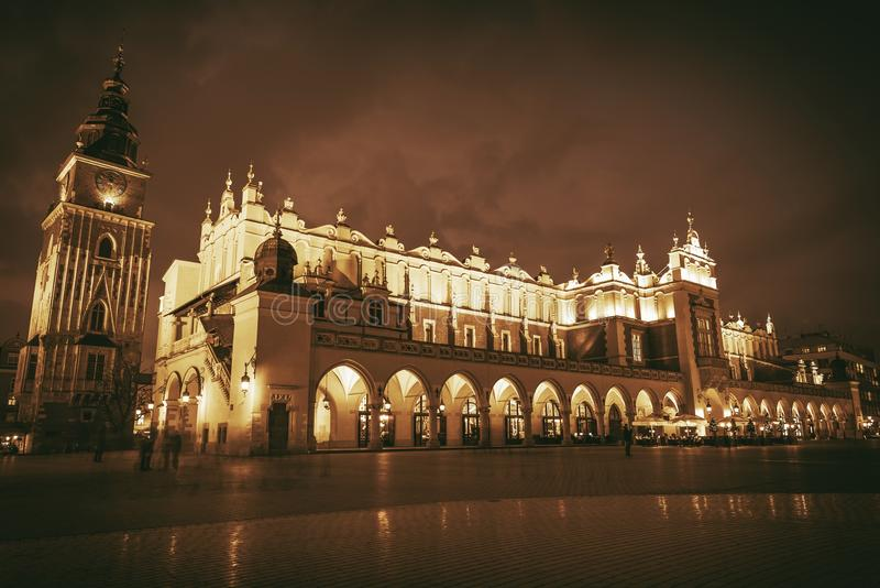 Krakow Main Square Poland royalty free stock images