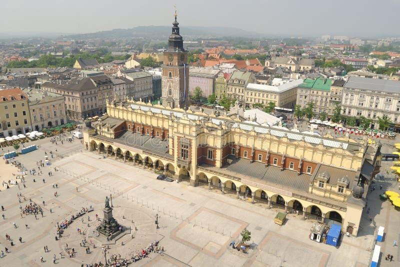 krakow marknadsfyrkant royaltyfria bilder