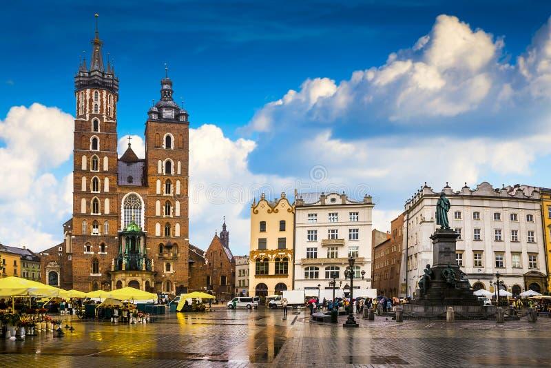 Krakow - o centro histórico do Polônia imagem de stock