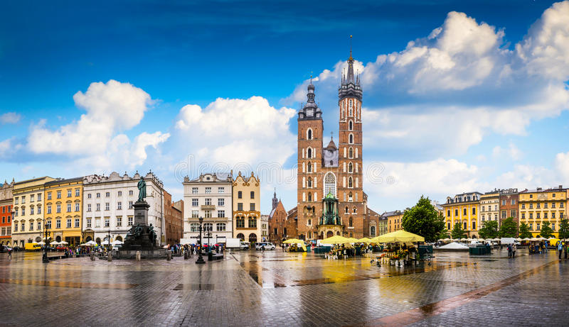 Krakow - o centro histórico do Polônia imagens de stock royalty free