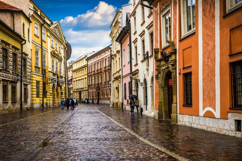Krakow - o centro histórico do Polônia foto de stock royalty free