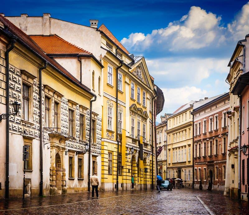 Krakow - o centro histórico do Polônia foto de stock