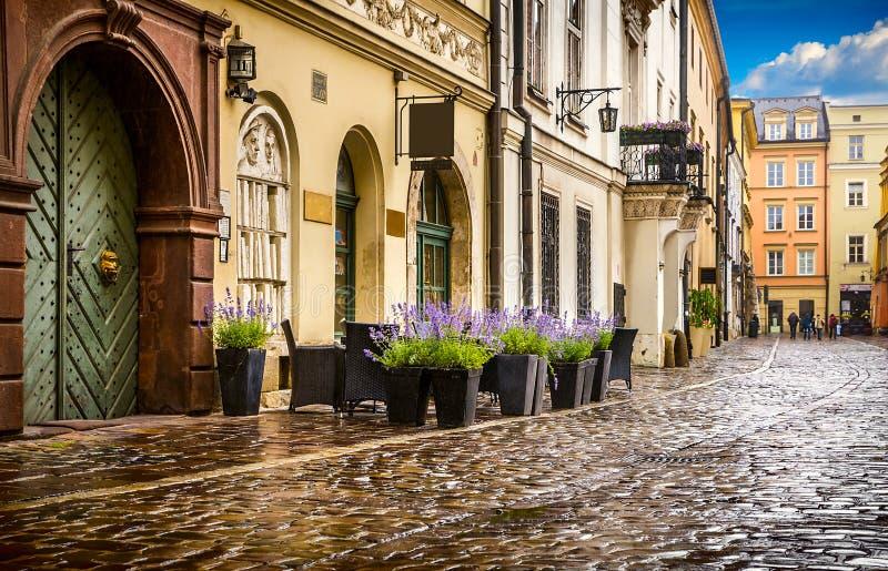 Krakow - o centro histórico do Polônia fotos de stock royalty free